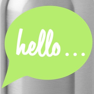 "Speech bubble ""hello ..."" - Water Bottle"