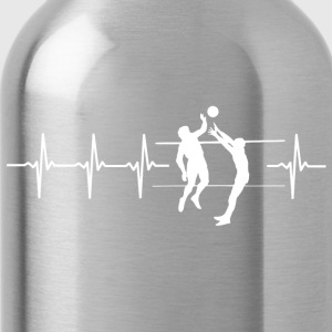 I love volleyball (volleyball heartbeat) - Water Bottle