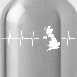 I love the United Kingdom (heartbeat) - Water Bottle