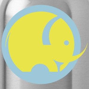Round Logo Elephant - Water Bottle