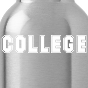 College t-shirt (white logo) - Drinkfles