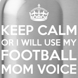 Football Mom Voice - Water Bottle