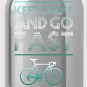 keepcalm bike bike go fast racing - Water Bottle