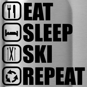 Eat sleep ski - Trinkflasche