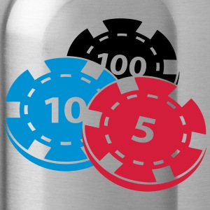 Pokerchips - Trinkflasche