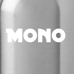 Mono in white - Water Bottle