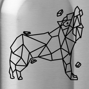 Wolf stylized geometric version - Water Bottle