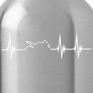 MotoBike Hearbeat Shirt - Water Bottle