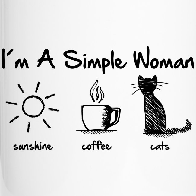 simple woman cats - Thermobecher