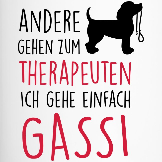 Gassi Therapeut Hund - Thermobecher
