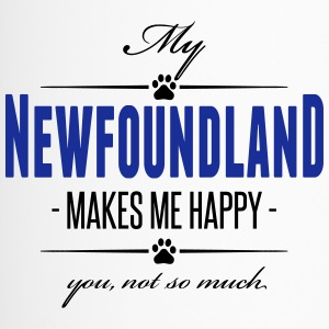 My Newfoundland makes me happy - Thermobecher