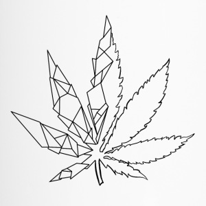 Stylized cannabis leaf - Travel Mug