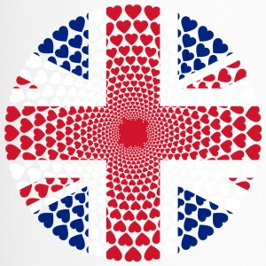 ENGLAND United Kingdom Britannien HERZ Mandala - Thermobecher