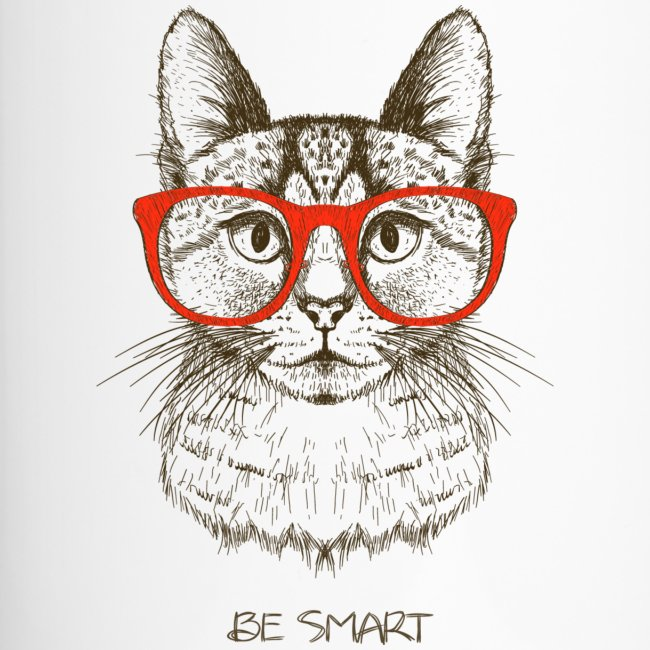 Cat Hipster - Thermobecher