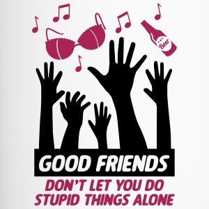 Good friends help with stupid things - Travel Mug