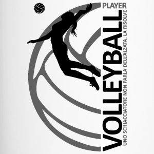 Volleyball player WOMAN black - Tazza termica
