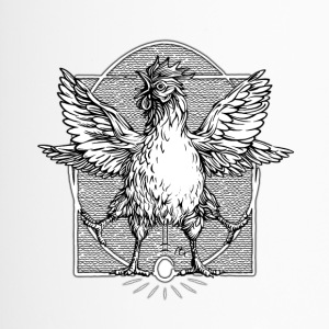 The rooster Vitruvian - Travel Mug