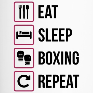 Eat Sleep Boxing herhalen - Thermo mok
