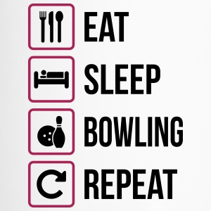 Eat Sleep Bowling Repeat - Thermobecher