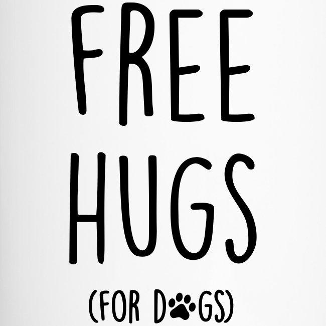 Vorschau: free hugs for dogs - Thermobecher