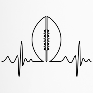 American Football Heartbeat - Thermobecher