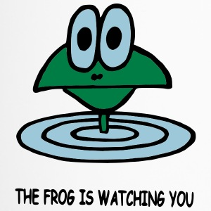 the frog is watching you - Travel Mug