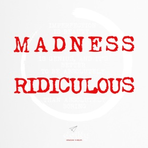 madness black - Tazza termica