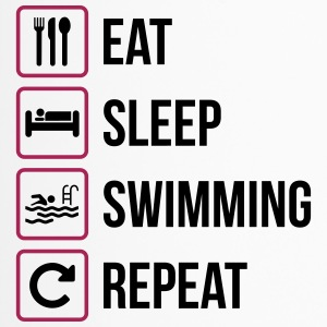 Eat Sleep Swimming Repeat - Thermobecher