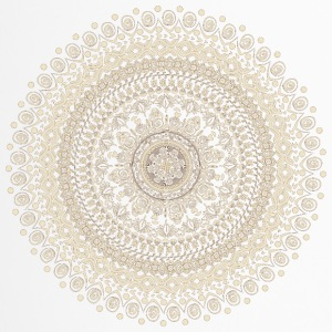 Mandala in beige-braun Tönen - Thermobecher
