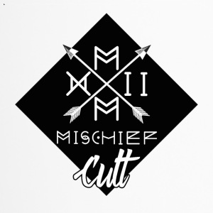 ♠ ♠ Mischief Cult Logo Design ♠ Streetwear ♠ Black - Travel Mug