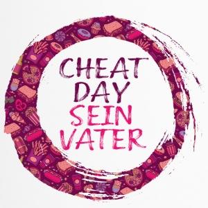 Cheatday Seinvater Hashtag Print - Thermobecher