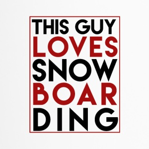 Ce Guy Loves Snowboard - Boarder Puissance - Mug thermos