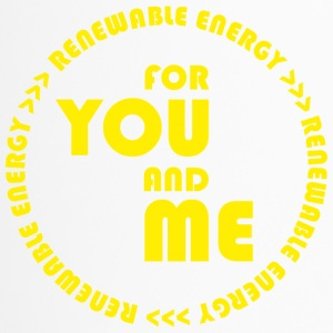 RENEWABLE energy for you and me - yellow - Travel Mug