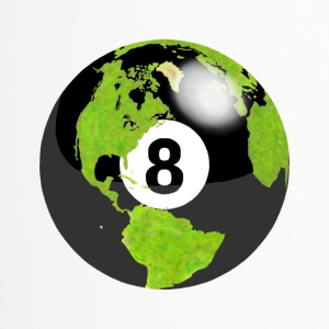 8-ball earth planet globe erde globus - Thermobecher