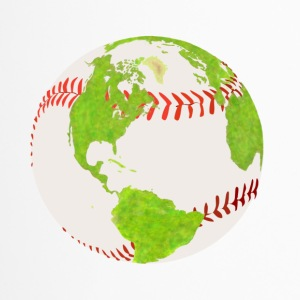 baseball earth planet globe erde globus - Thermobecher