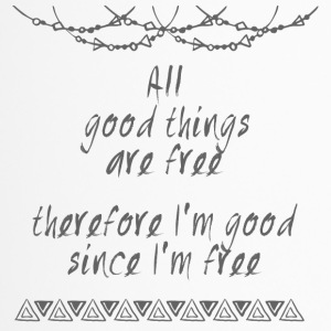 Hippie / Hippies: All good things are free there.. - Thermobecher