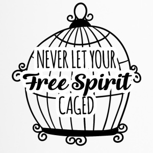 Hippie / Hippies: Never let your Free Spirit caged - Thermobecher