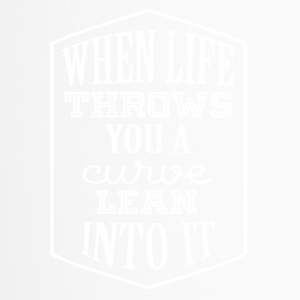 When life is a curve Mach wisdom - Travel Mug