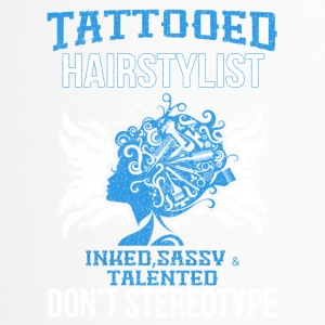 tattooed hair - Thermobecher