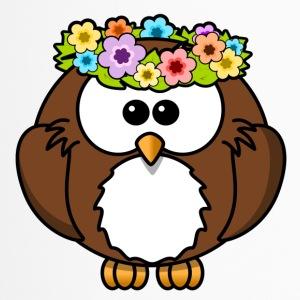 Hippie owl flowers - Travel Mug