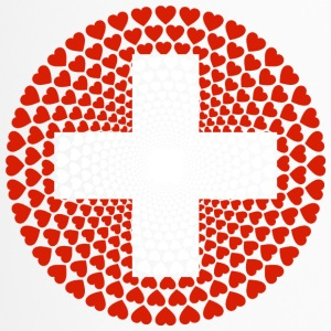 Switzerland Schweiz Swiss Love Herz Mandala - Thermobecher