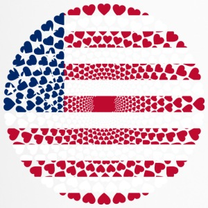 USA America Amerika Love HERZ Mandala - Thermobecher