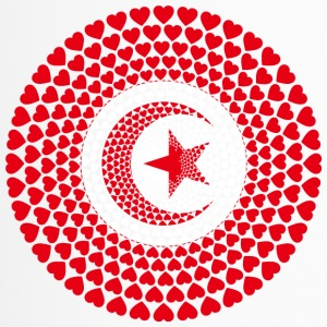Tunisia Tunesien تونس‎‎ ⵜⵓⵏⴻⵙ Love HERZ Mandala - Thermobecher