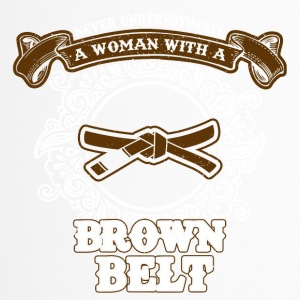 No woman with brown belt - Travel Mug