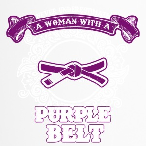 No woman with purple belt - Travel Mug