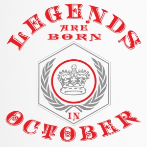 Legends October born birthday gift birth - Travel Mug