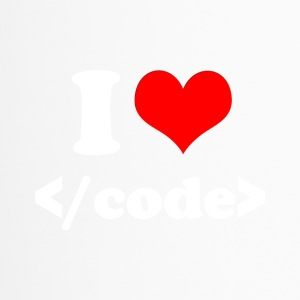 I Love Code (White Font) - Thermobecher
