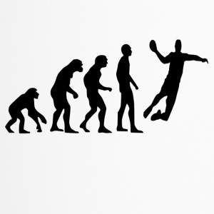 Human Evolution Handball - Travel Mug