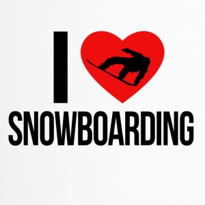 I LOVE SNOWBOARDING - Thermobecher
