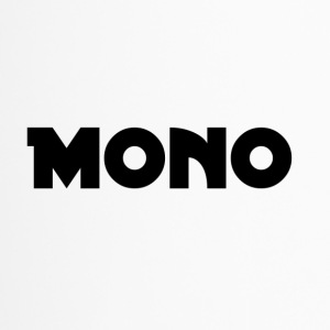 Mono in black - Travel Mug